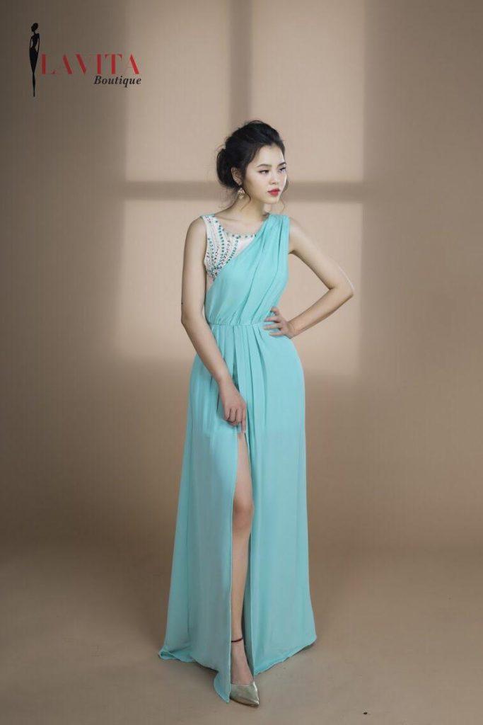 đầm dạ hội cho người trung niên Bí quyết mặc đầm dạ hội cho người trung niên đẹp cuốn hút Dam da hoi gia re
