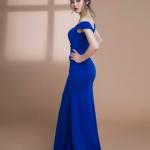 Đầm Dạ Hội Trễ Vai Đuôi Cá Kết Ren 3D