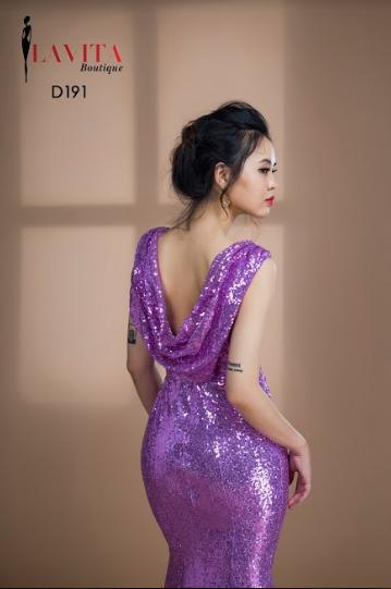 Đầm dạ hội kim sa đuôi cá chất lượng