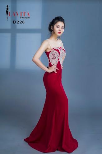 Đầm Dạ Hội Đuôi Cá Kết Ren Đồng Sang Trọng chất lượng