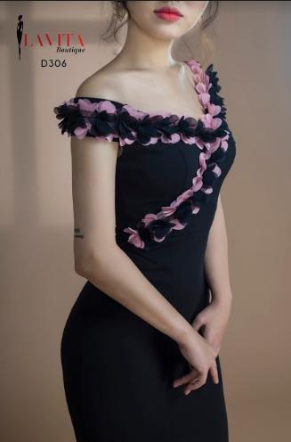 Đầm Dạ Hội Ôm Body Trễ Vai Xẻ Tà uy tín