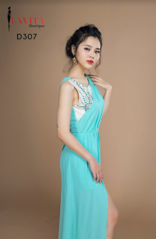 Đầm Dạ Hội Xòe Đính Ngọc Sát Nách uy tín