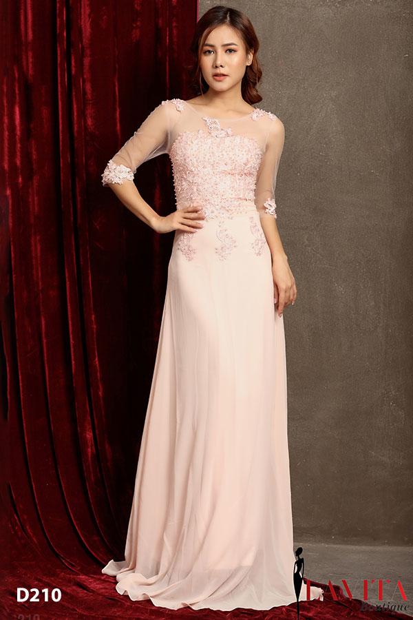 váy đầm dài 3 kiểu váy đầm dài giúp bạn gái dự tiệc xinh đẹp hơn Vay dam dai