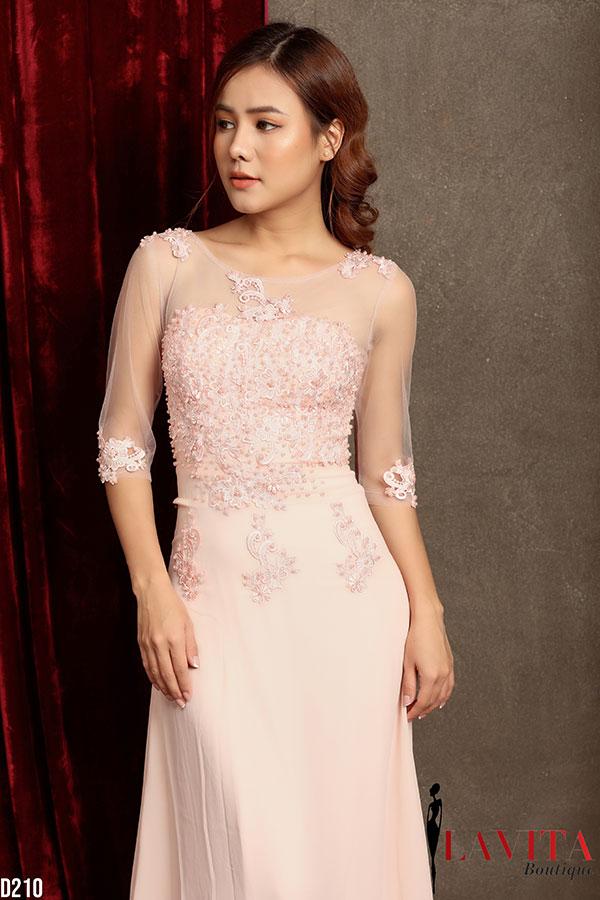 Váy đầm dài sang trọng, quý phái váy đầm dài 3 kiểu váy đầm dài giúp bạn gái dự tiệc xinh đẹp hơn Vay dam dai1