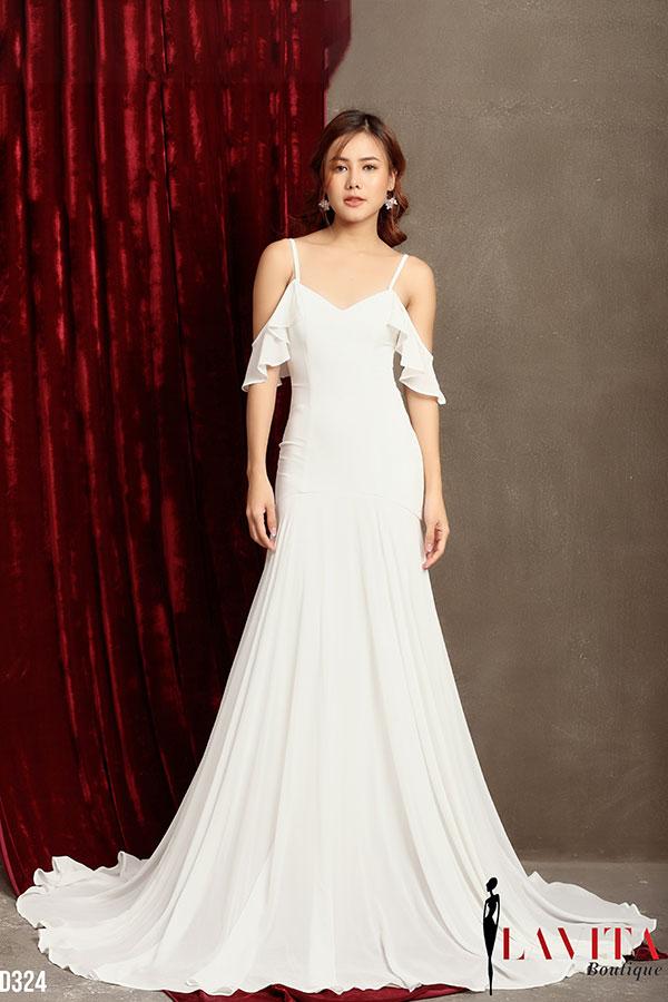 váy đầm sang trọng 3 mẫu váy đầm sang trọng đẹp không thể thiếu trong mùa Giáng sinh Vay dam sang trong1