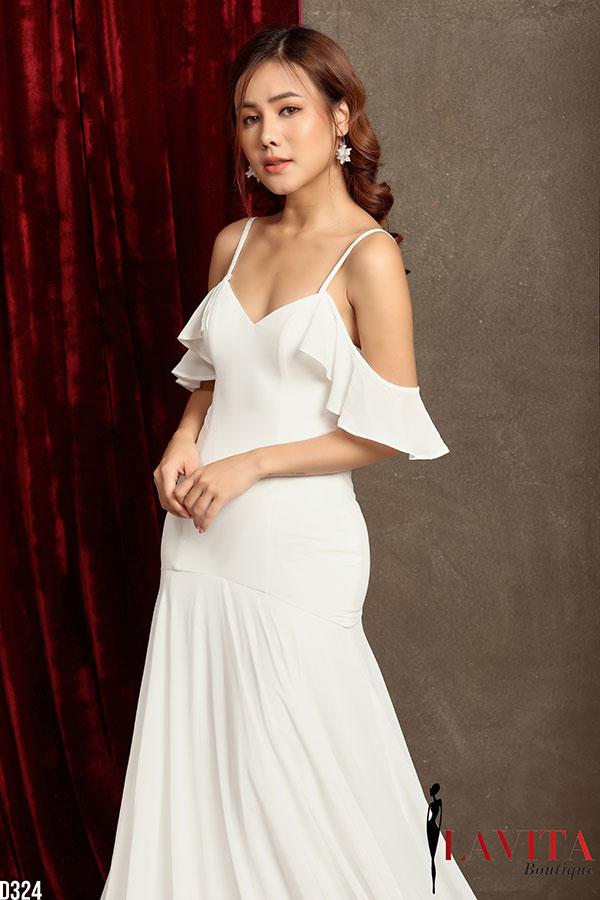 váy đầm sang trọng 3 mẫu váy đầm sang trọng đẹp không thể thiếu trong mùa Giáng sinh Vay dam sang trong2