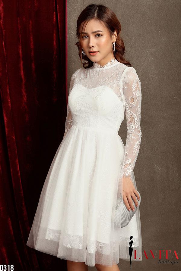váy đầm xòe đẹp Muôn vẻ với 3 kiểu váy đầm xòe đẹp giúp bạn diện tiệc cưới lung linh Vay dam xoe dep1