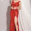 Đầm Dạ Hội Kim Sa Xẻ Tà sang trọng, quý phái, quyến rũ