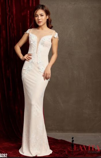 Đầm Đuôi Cá Kết Bông 3D tạo sự sang trọng, quý phái, quyến rũ