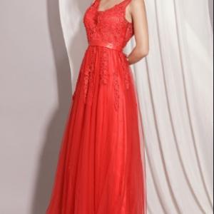 Đầm Dạ Hội Ren Xòe Xẻ Lưng sang trọng, quý phái, quyến rũ