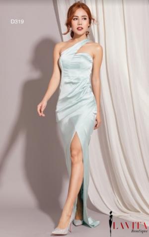 Đầm Dạ Hội Xẻ Tà Chéo Vai sang trọng, quý phái, quyến rũ