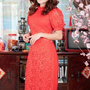 Áo Dài Cách Tân Chân Váy Dập Ly lịch sự sang trọng, quý phái, quyến rũ