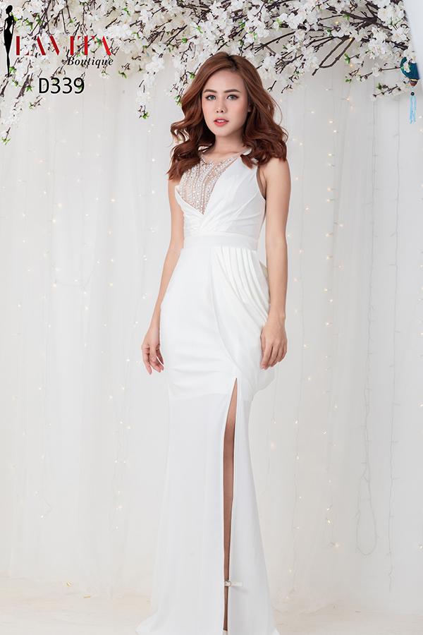 dam-da-hoi-mau-trang Đầm dạ hội màu trắng Cách diện đầm dạ hội màu trắng xinh đẹp như thiên thần d 339 5