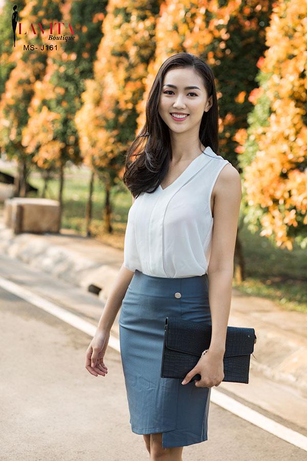 set-chan-vay-cong-so Set chân váy công sở Lựa chọn set chân váy công sở với áo sơ mi đẹp để diện đi làm cac kieu chan vay cong so