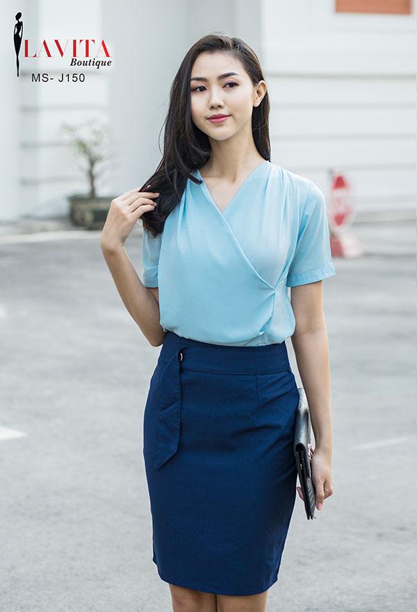chan-vay-chu-a-cong-so Chân váy chữ A công sở Bí quyết chọn chân váy chữ A công sở cho từng dáng người chan vay chu a cong so